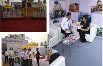 HBXG bulldozer 'shining' appearance India EXCON exhibition