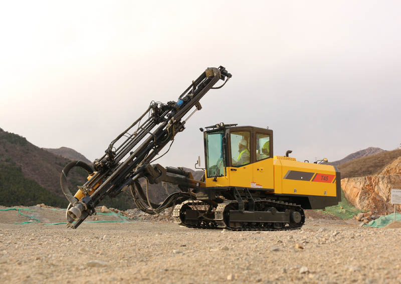T45 Full Hydraulic Top Hammer Surface drilling rig